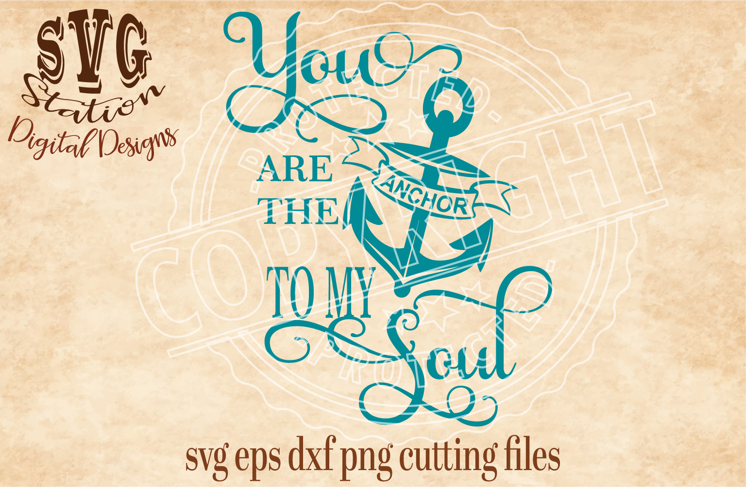 You Are The Anchor To My Soul Cut File example image 1