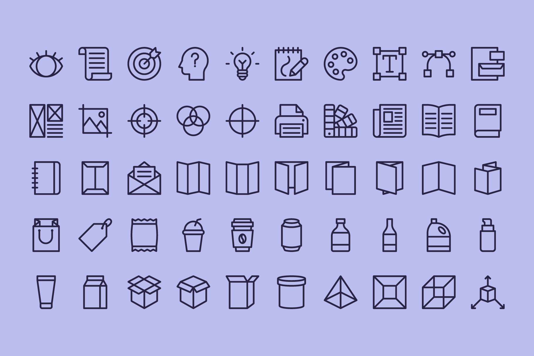 100 Graphic Design | Line Icons example image 4