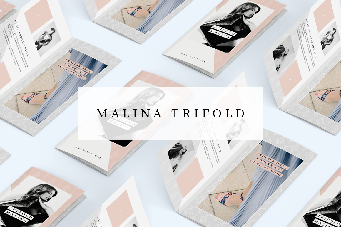MALINA Trifold Brochure + Pattern example image 1
