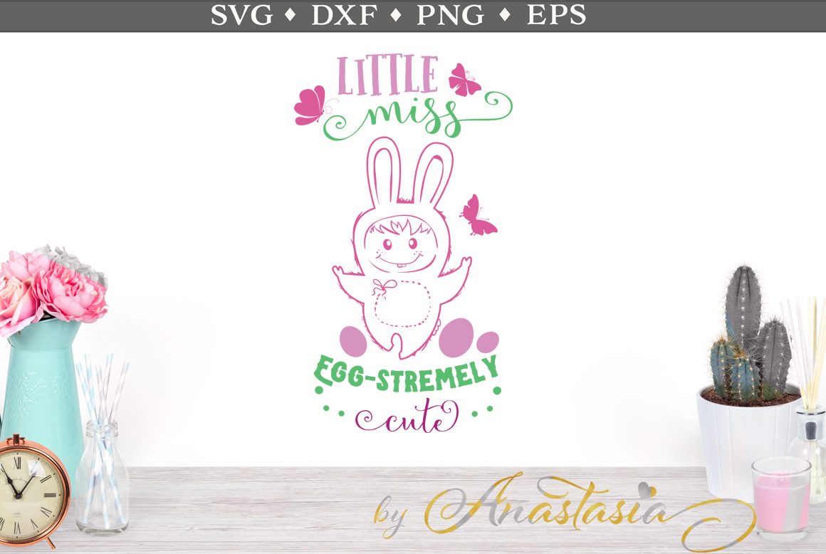 Little Miss Egg-stremely Cute SVG Cut Files example image 1