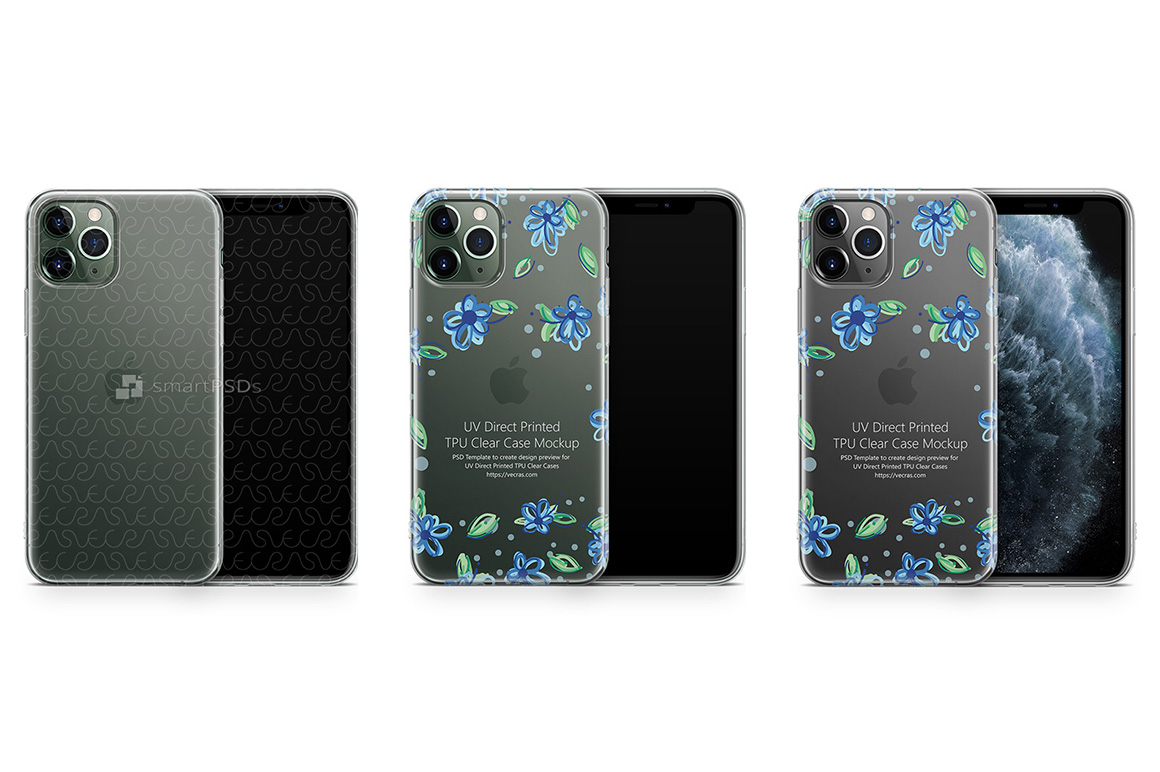 iPhone 11 Pro 2019 TPU Clear Case Mockup example image 1