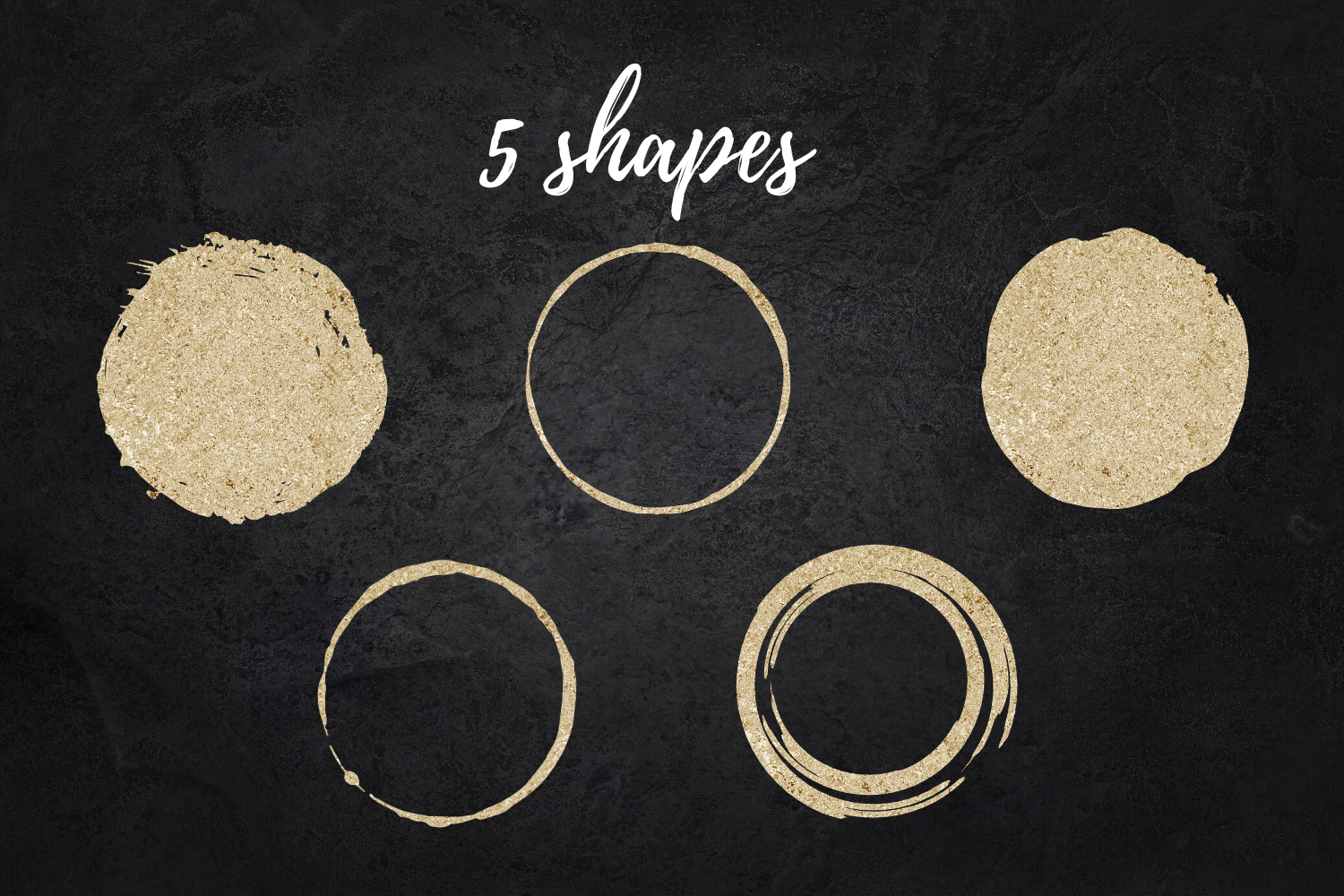 Gold and glitter circles for logo, Round gold dot, Roud gold example image 3
