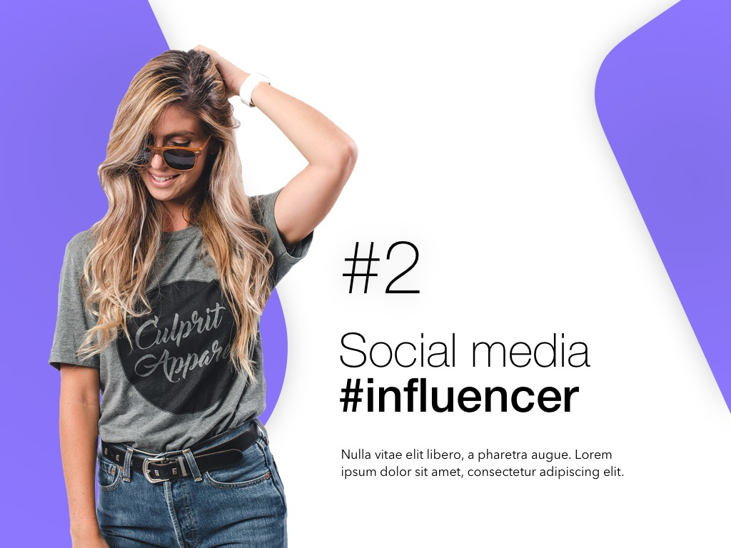 Influencer Marketing PowerPoint Template example image 3