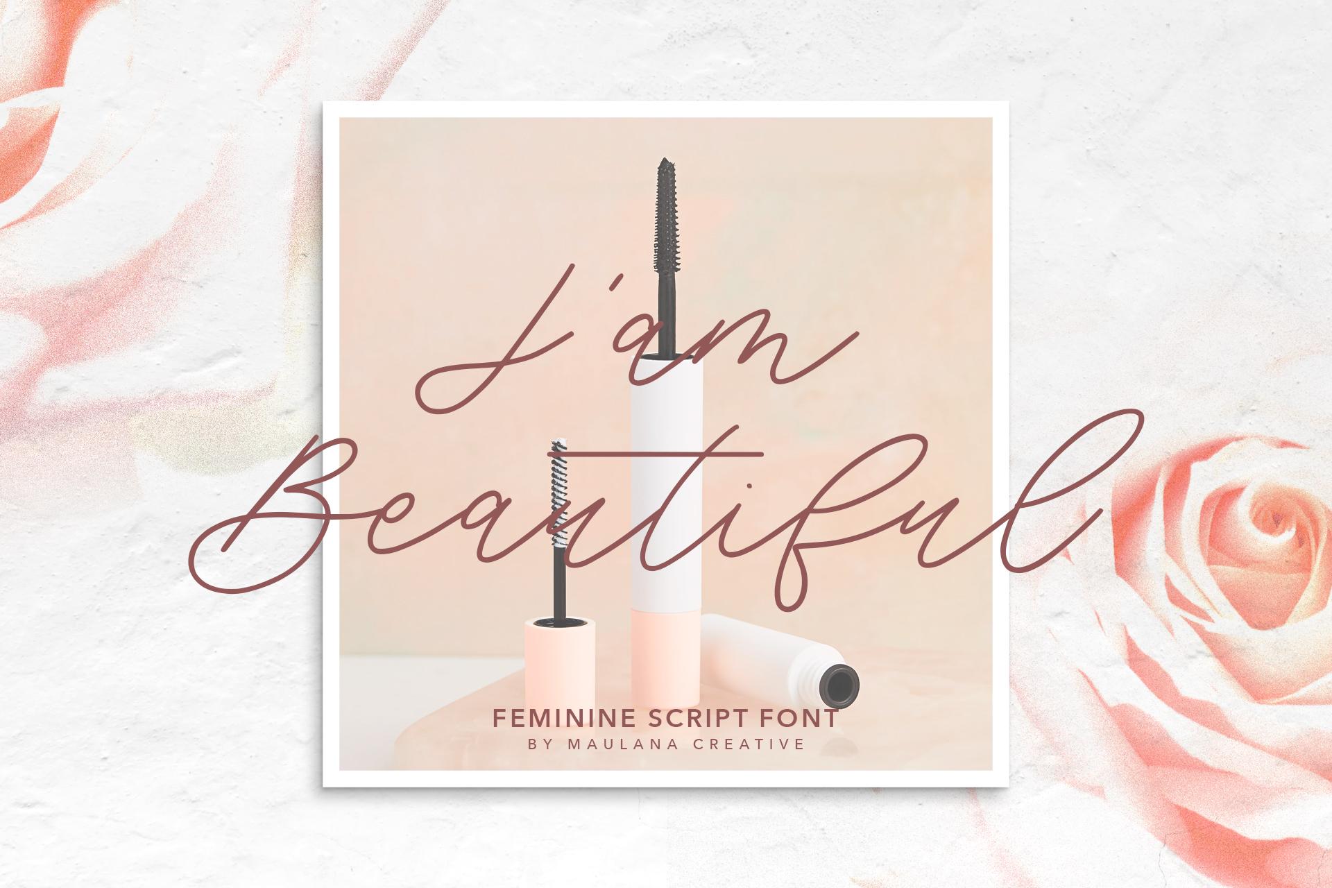 Southwide Feminine Script Font example image 7