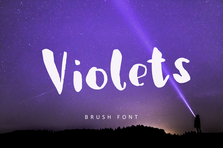 Violets, brush font example image 1