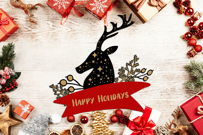 Christmas Clipart- Christmas Overlays-Holiday Graphics example image 5