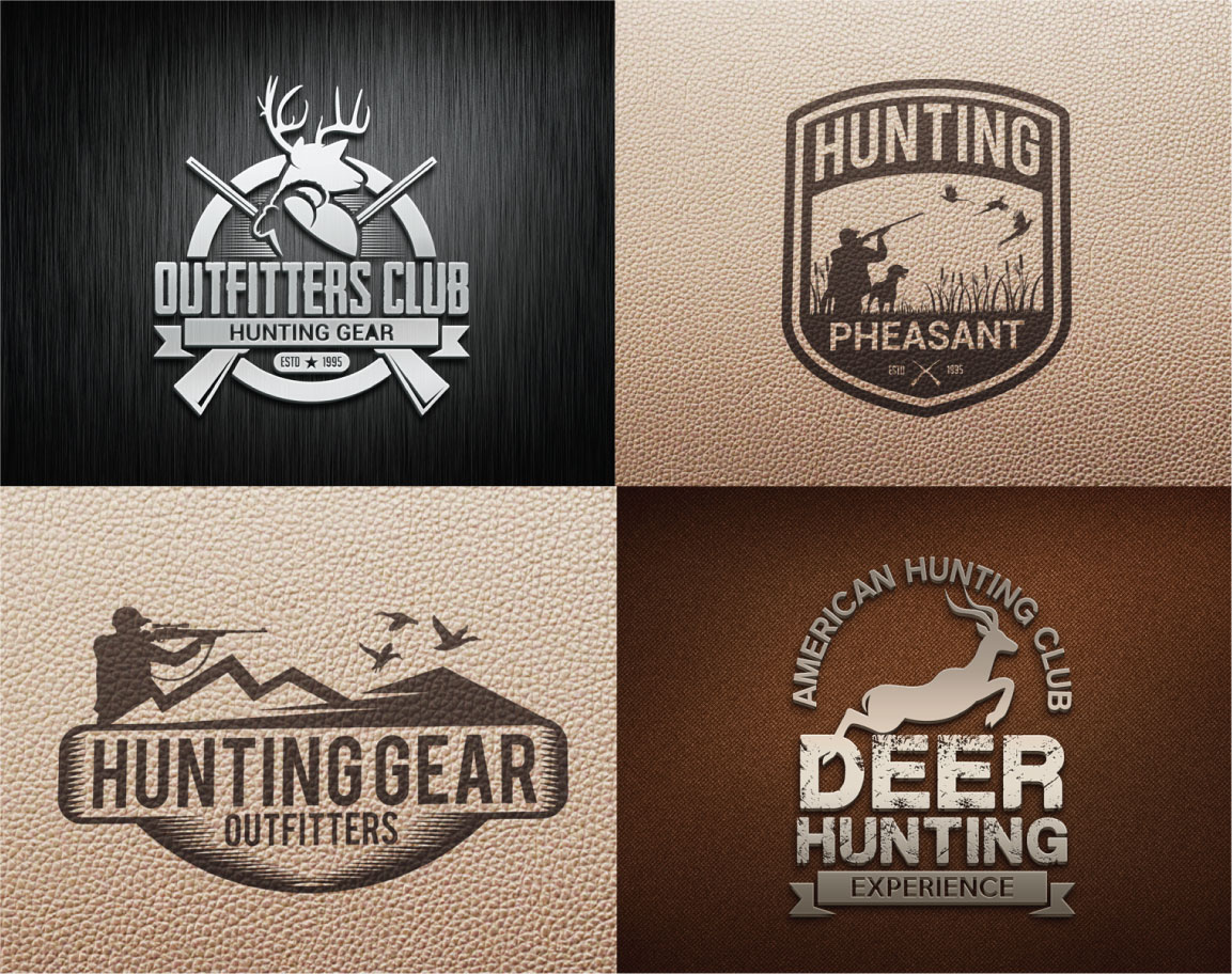 Hunting Vintage Badges and Logos example image 2