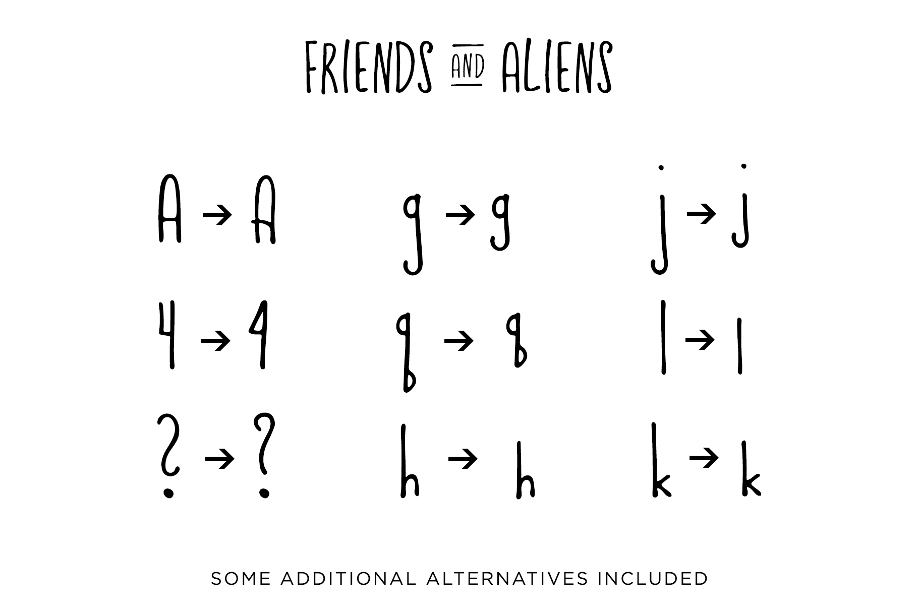 Friends & Aliens Font example image 8