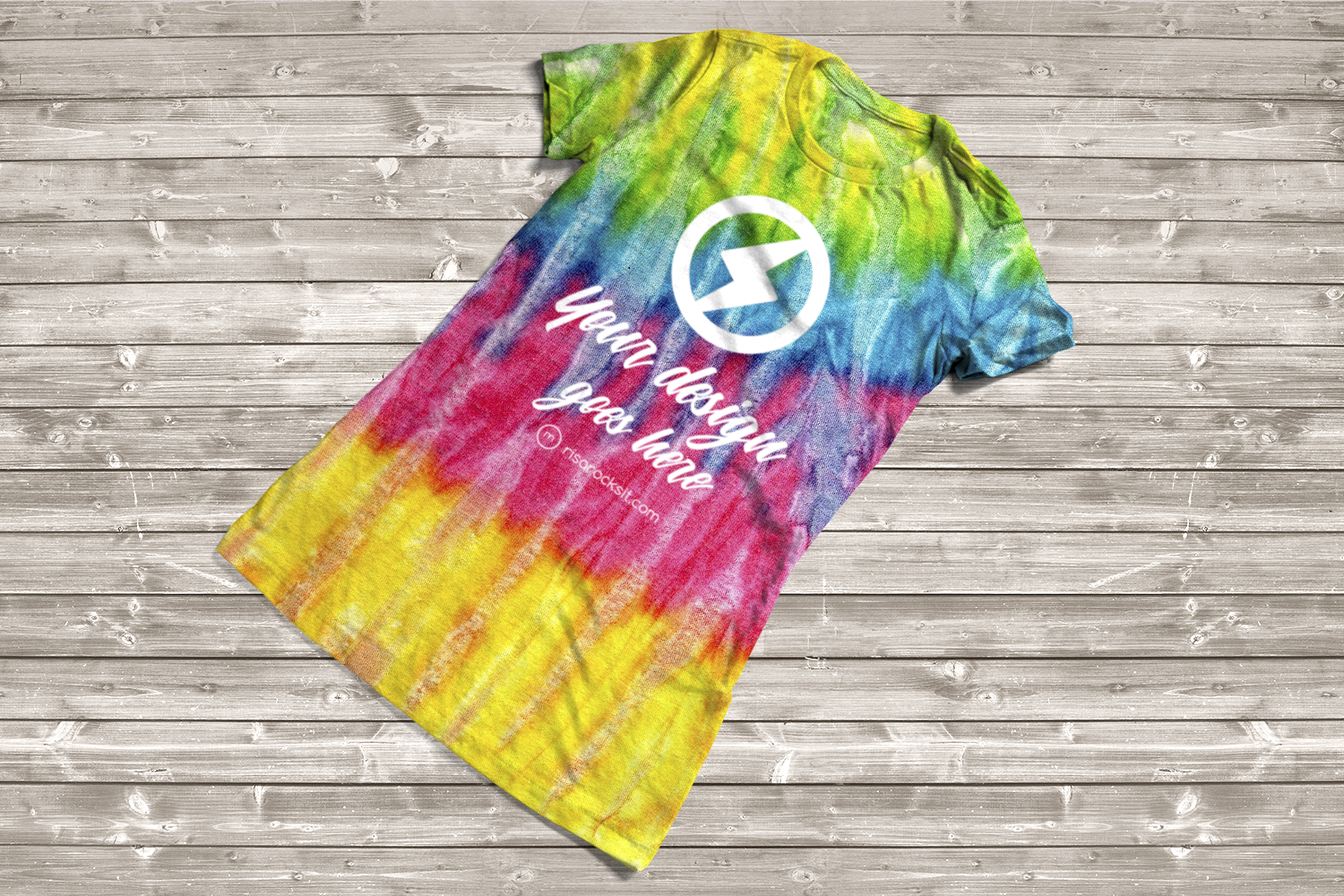 Tie Dye Tee Product Mock Up example image 2