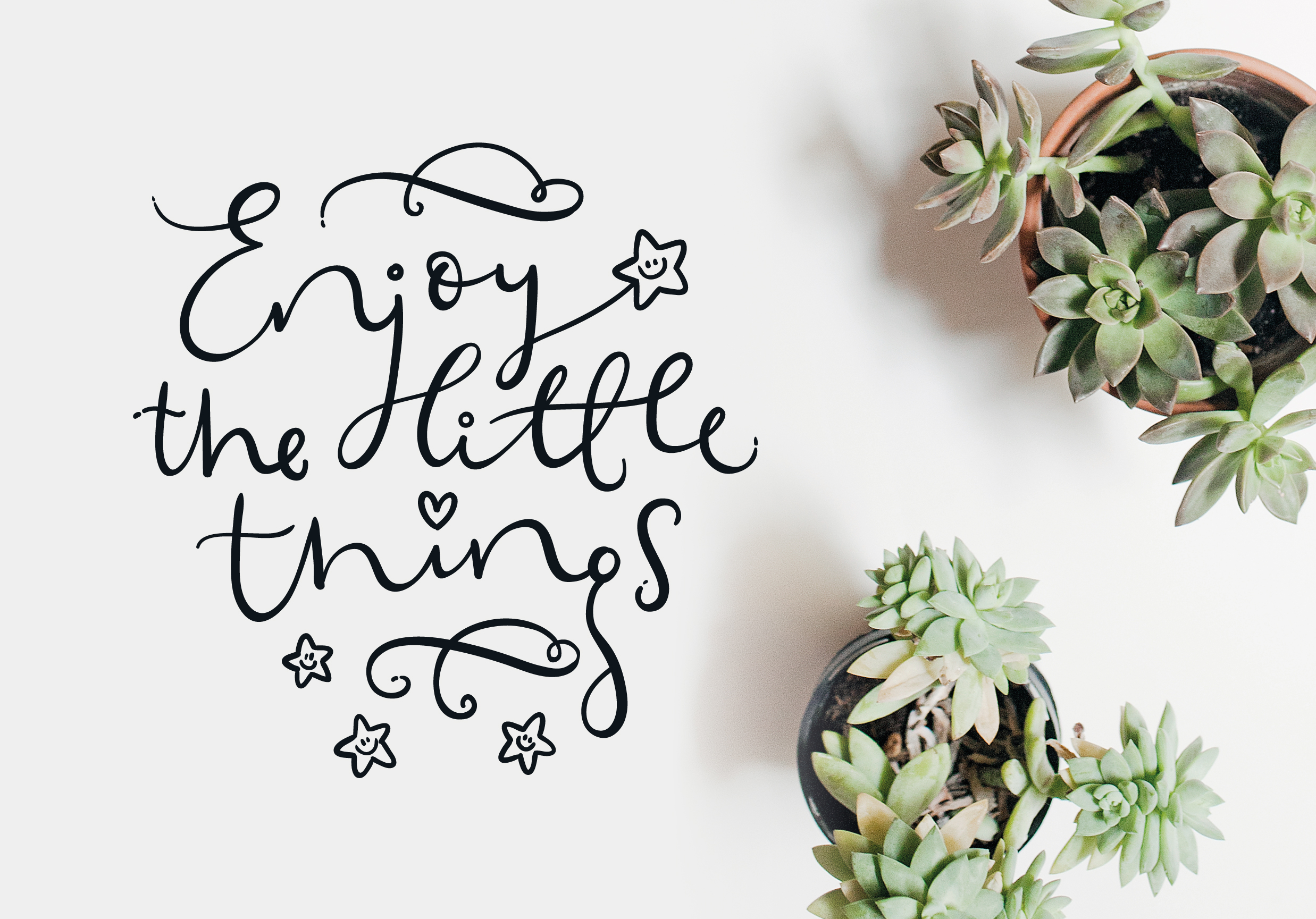 Enjoy the little things SVG cut files example image 1