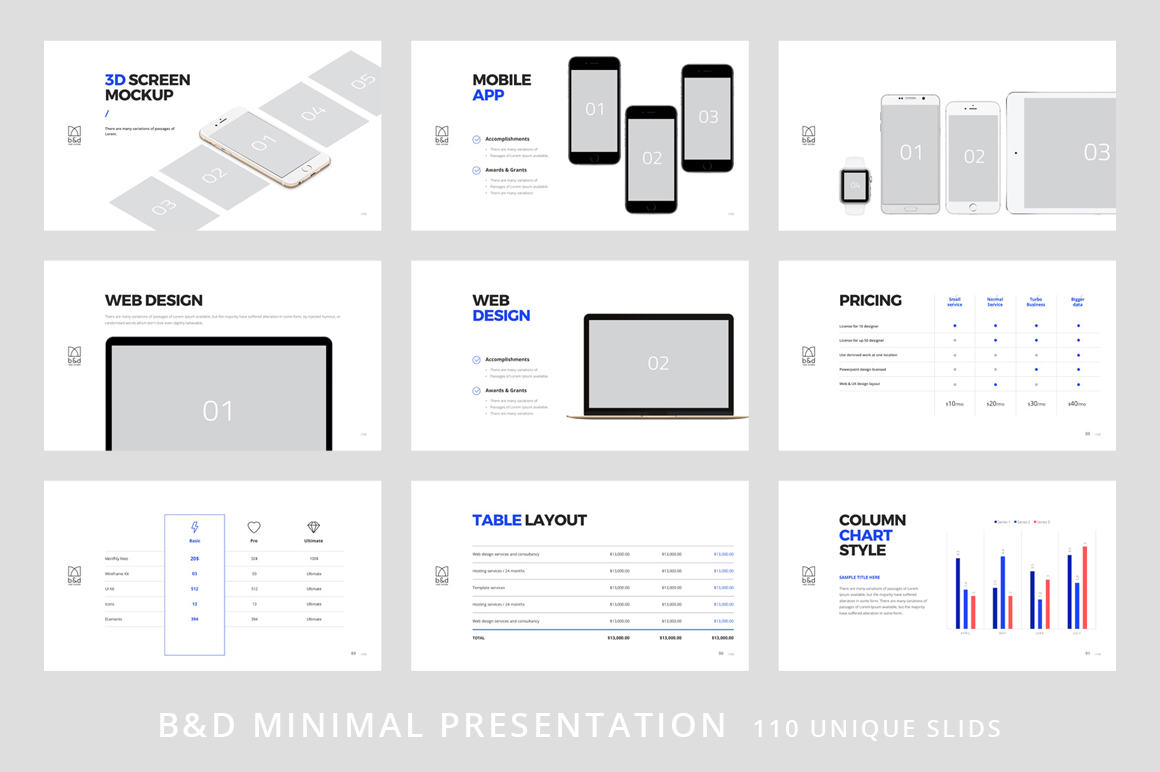 B&D-Powerpoint & Keynote Template example image 11