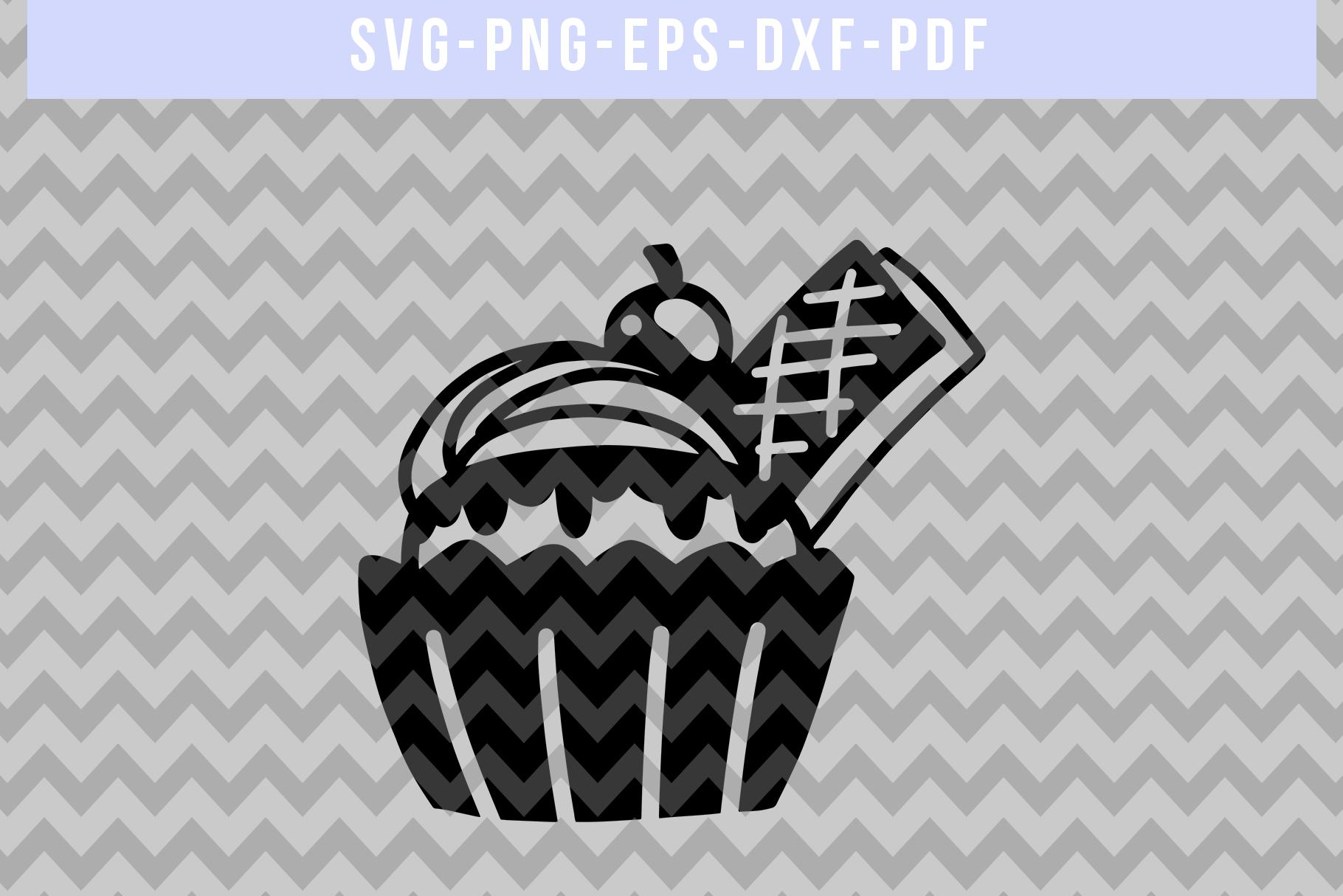 Waffel Cupcake Papercut Template, Birthday Cut File SVG PDF example image 4