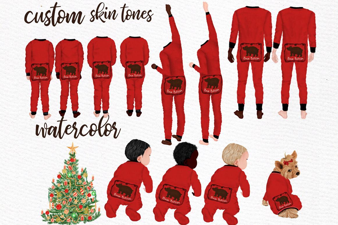 Watercolor Christmas Family Clipart Christmas Mug designs example image 7