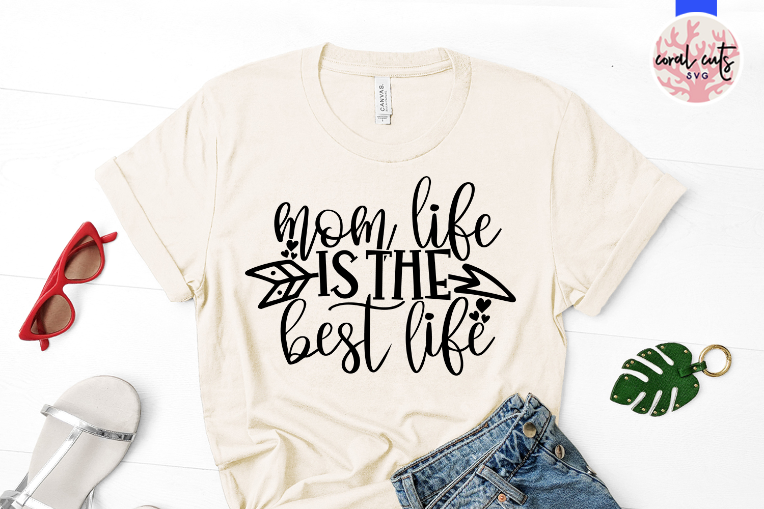 Mom life is the best life - Mother SVG EPS DXF PNG Cut File example image 2