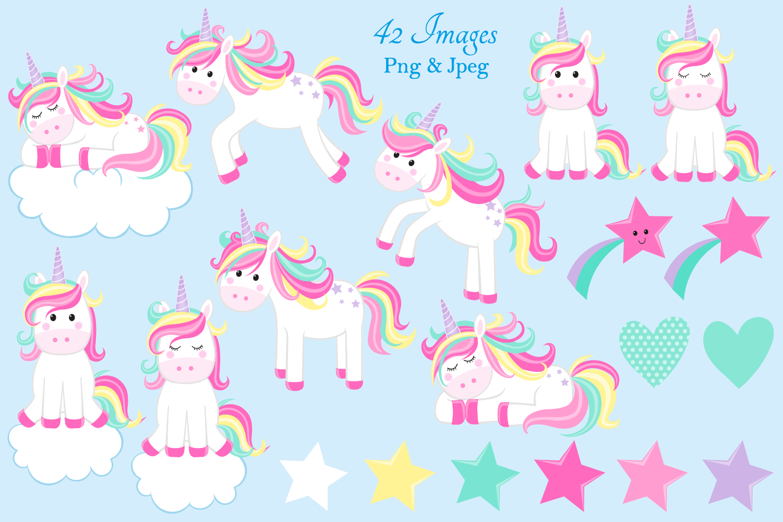 Unicorn clipart, Unicorn graphics & Illustrations, Unicorns example image 3