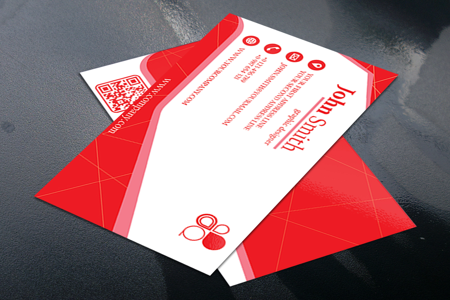 Business Card Simple Modern Design in 3 different Colors example image 3