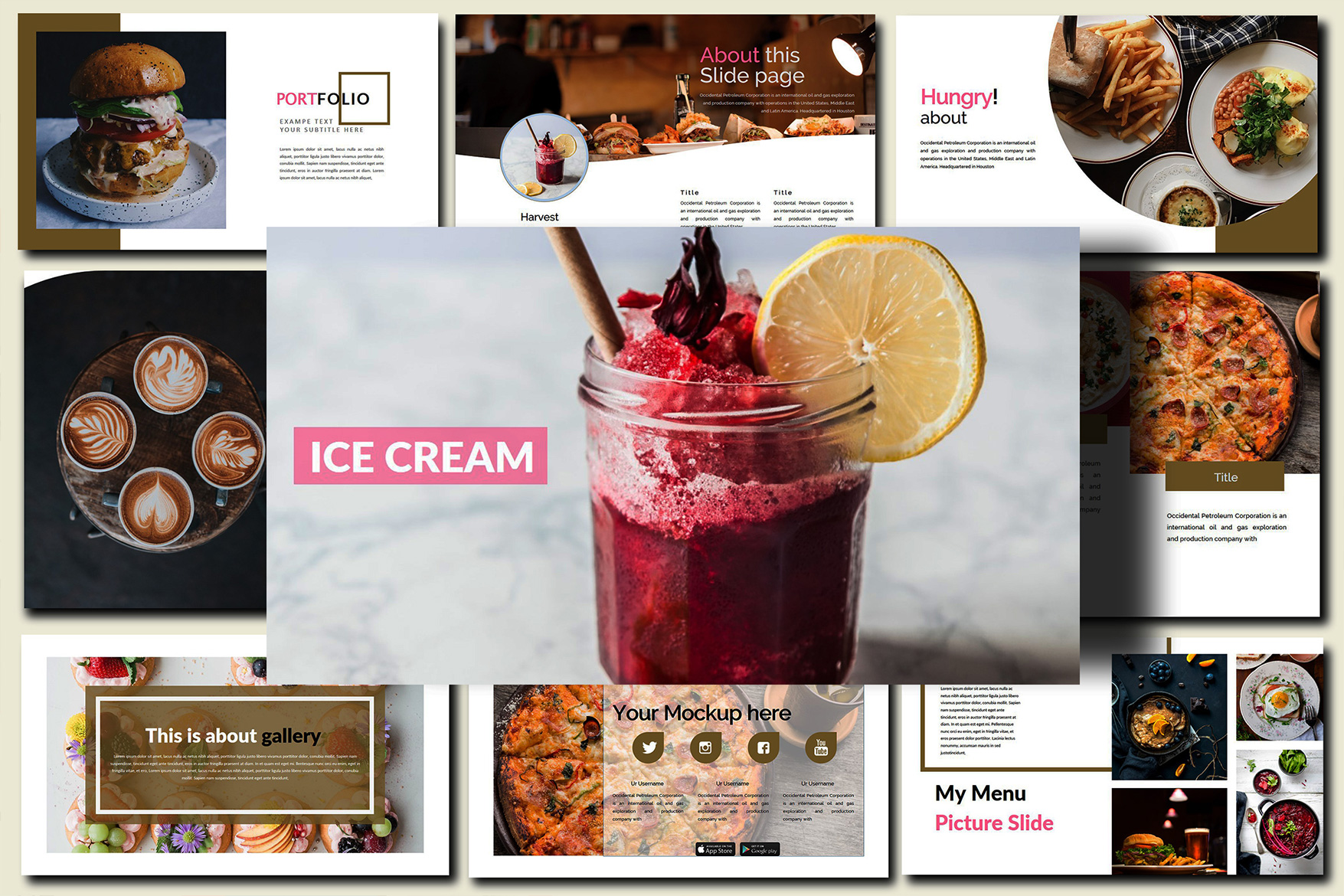 Delicious Food - Powerpoint Template example image 3