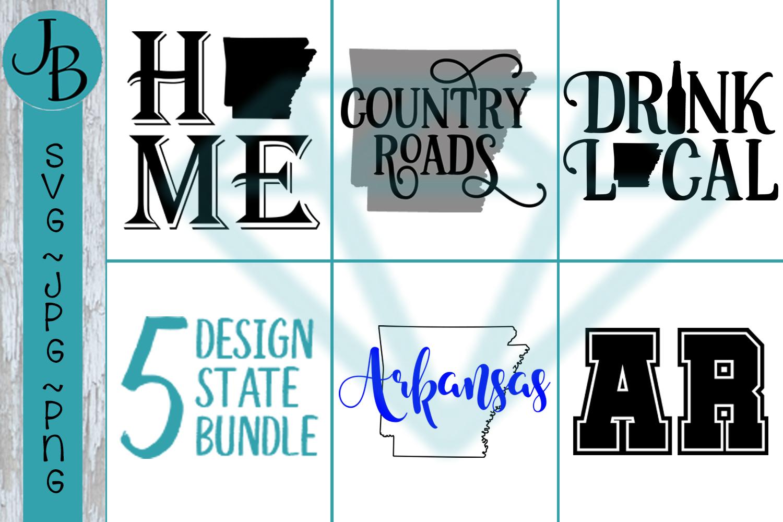 Arkansas State Pride Bundle, AR SVG Bundle example image 1