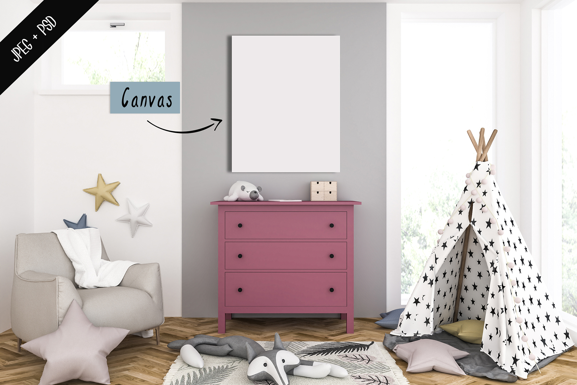 Frame mockup creator - All image size - Interior mockup example image 7