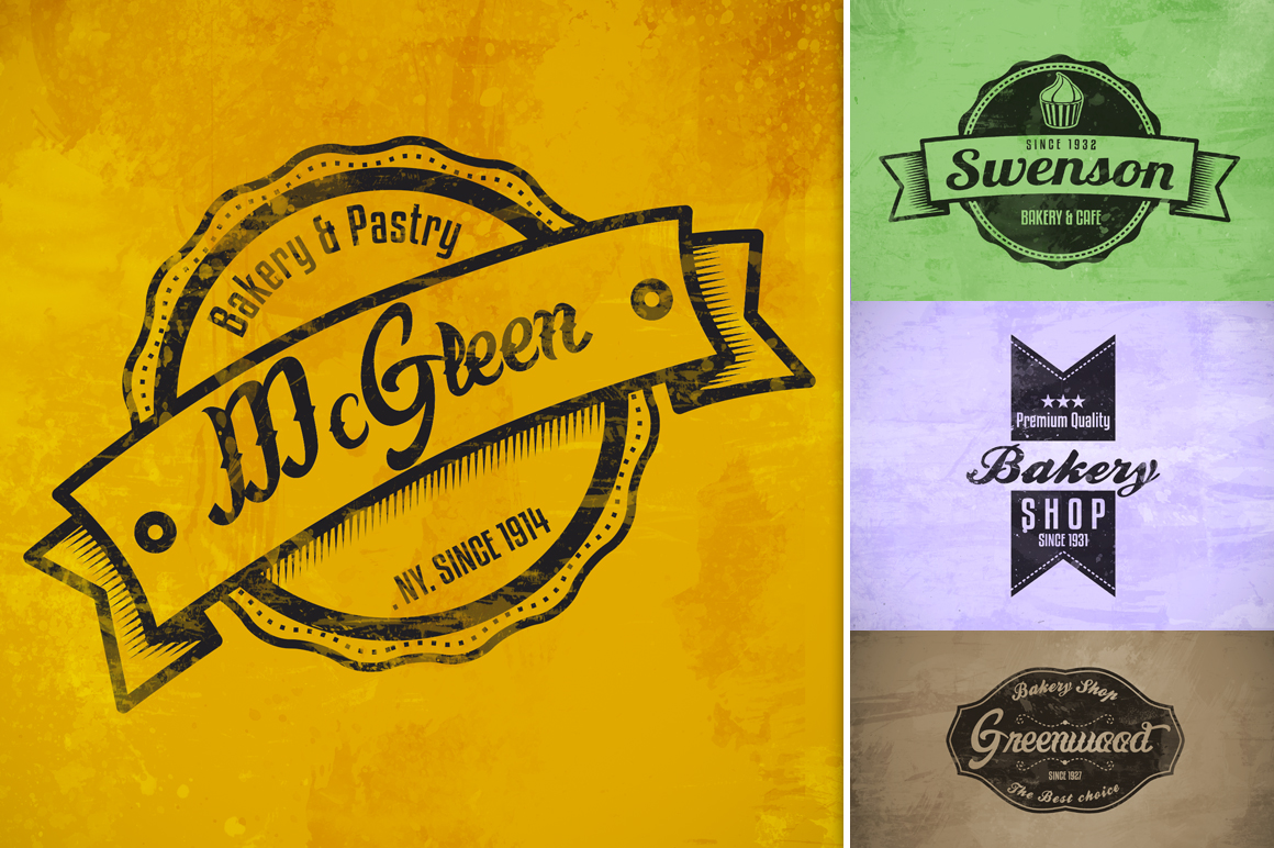 Bakery & Pastry Vintage logo example image 3