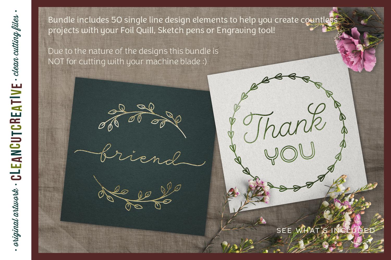 Single Line | Foil Quill | Sketch | Engrave SVG design file example image 2