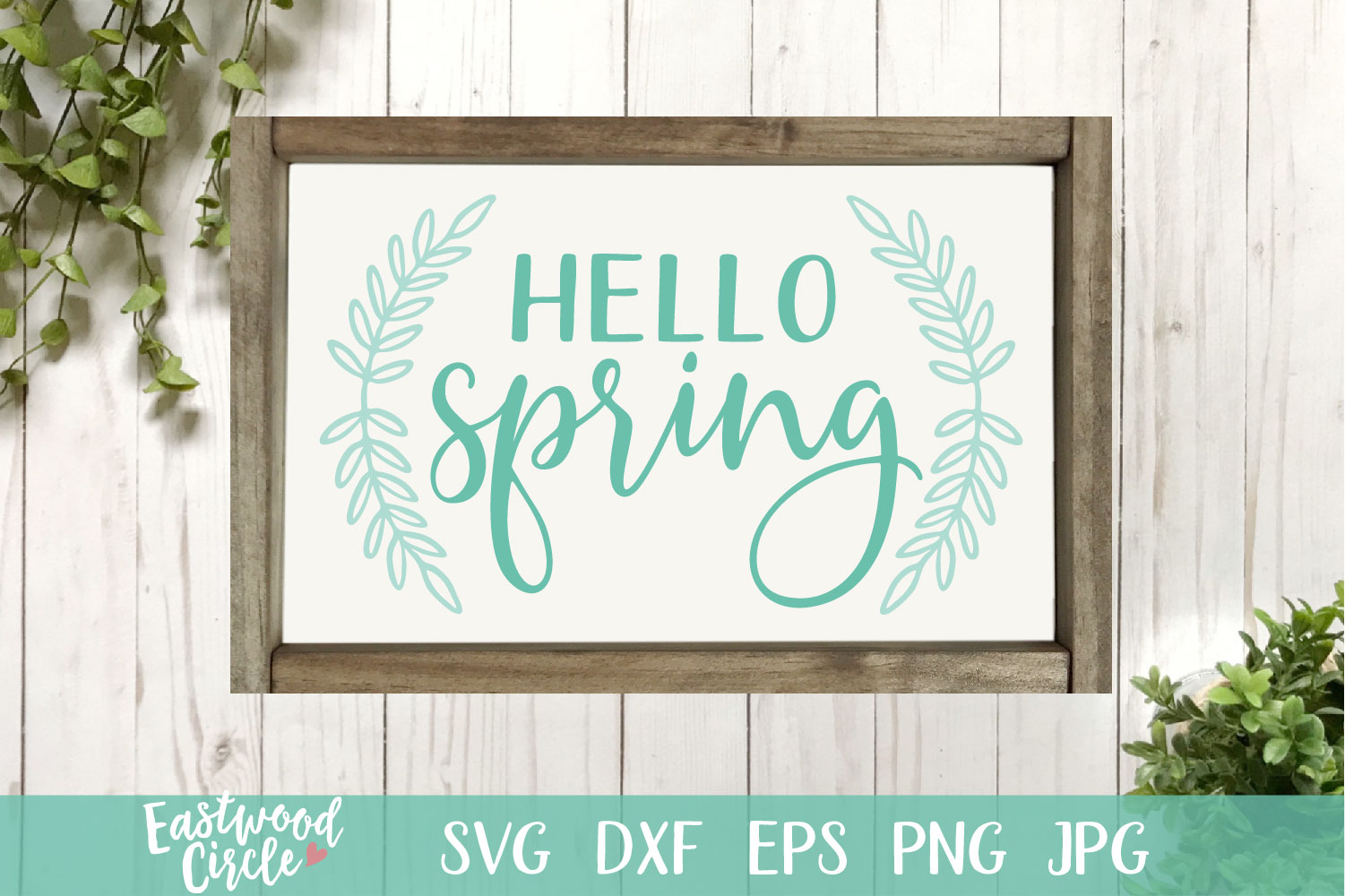 Hello Spring - A Spring SVG Cut File for Crafters example image 1