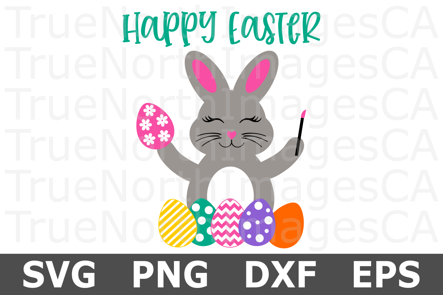 Painting Eggs - An Easter SVG Cut File example image 1
