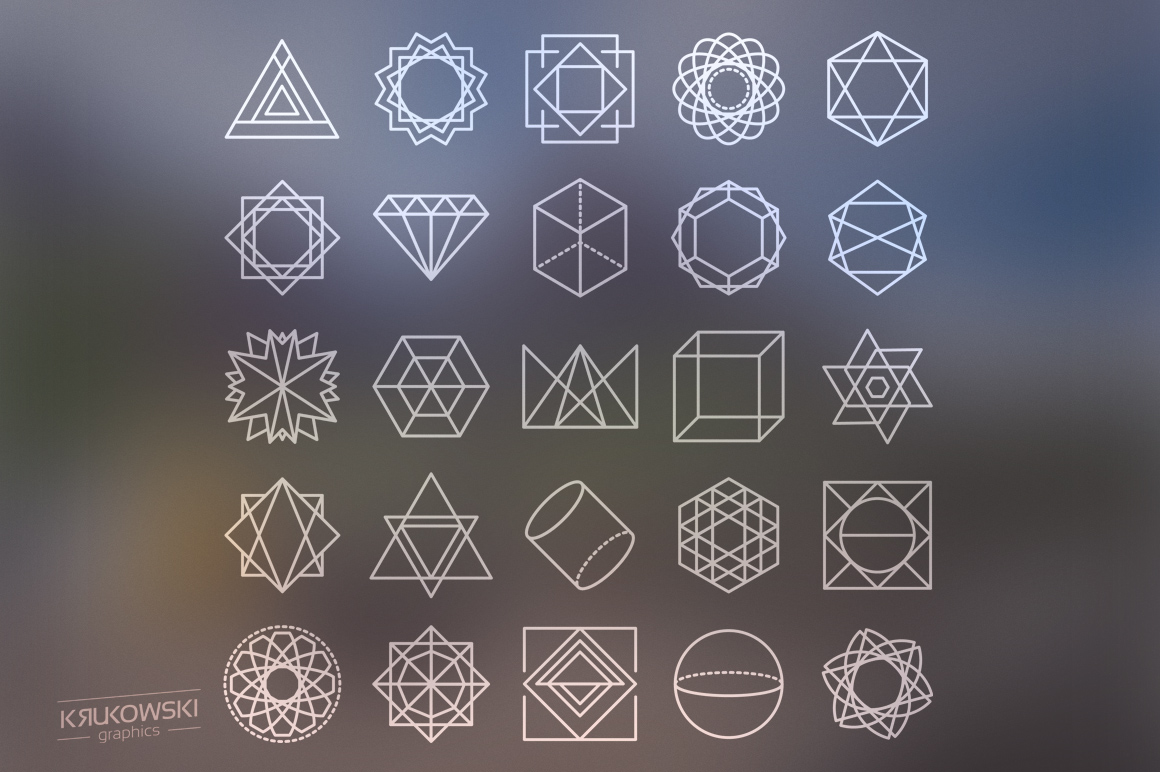 Geometric Icons Set example image 2