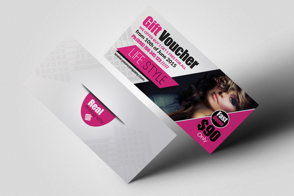 Beauty Fashion Promotion Gift Vouchers example image 1