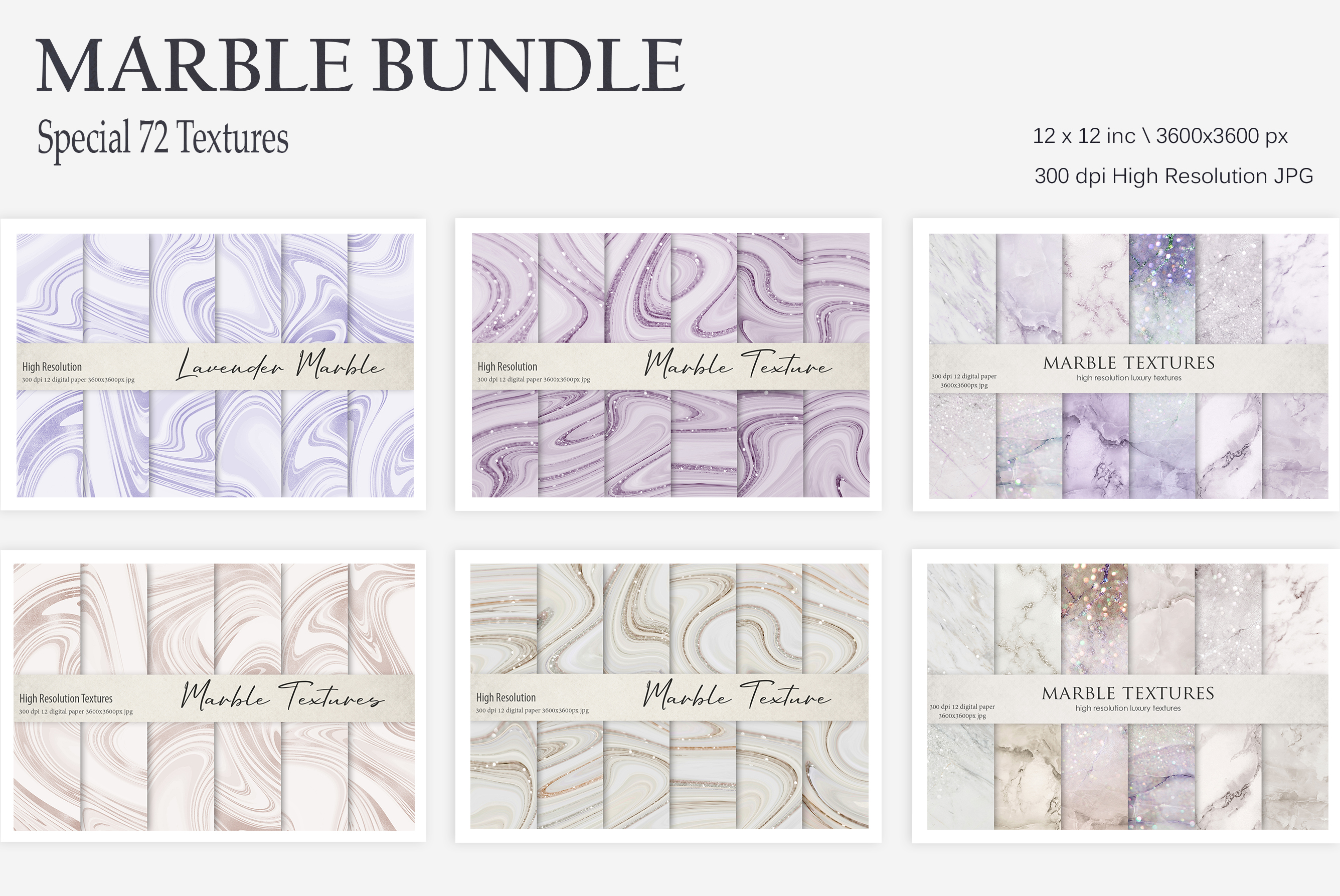 Marble Bundle 72 Textures example image 1