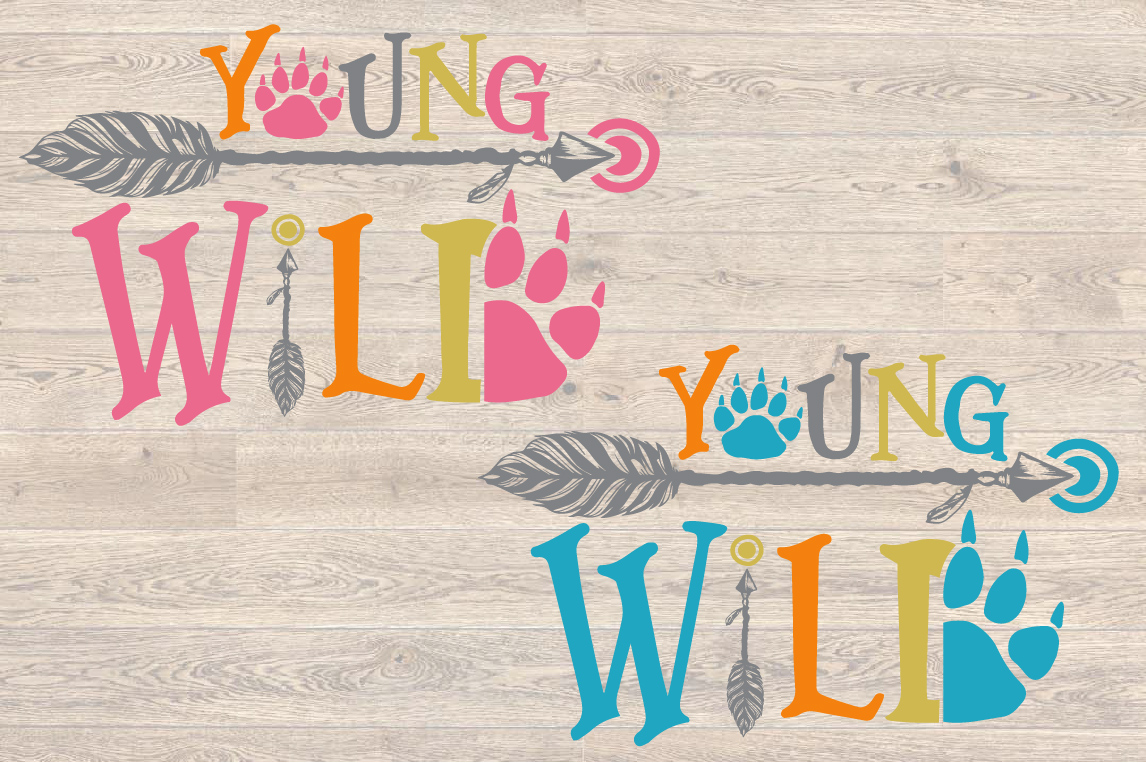 Young Wild SVG Bear Paw Arrow Stay One Birthday baby 1536s example image 2