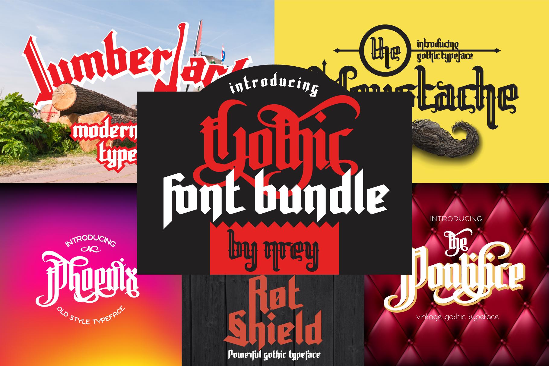 Gothic font bundle example image 1