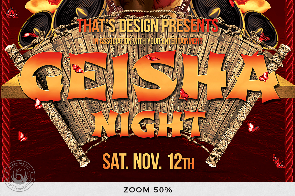 Geisha Night Flyer Template V1 example image 8
