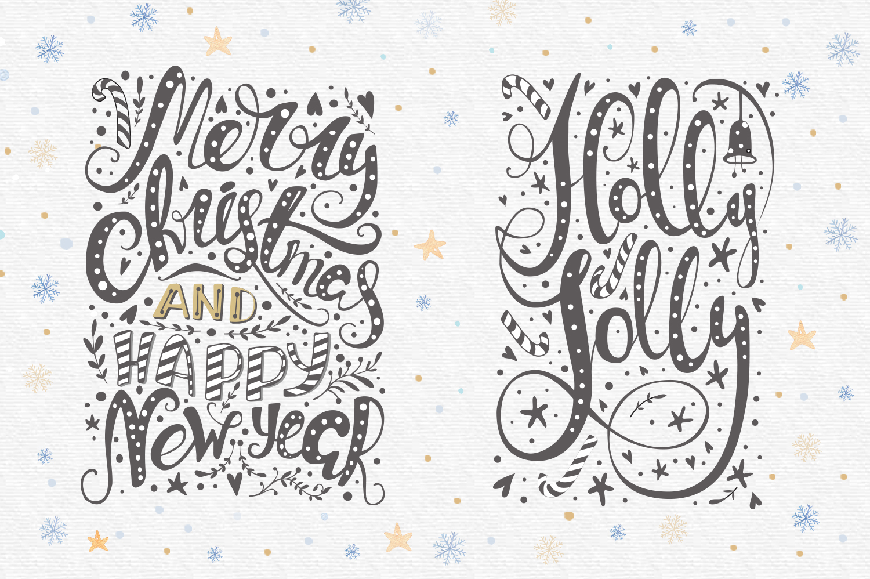 Vector Christmas lettering + bonus example image 4
