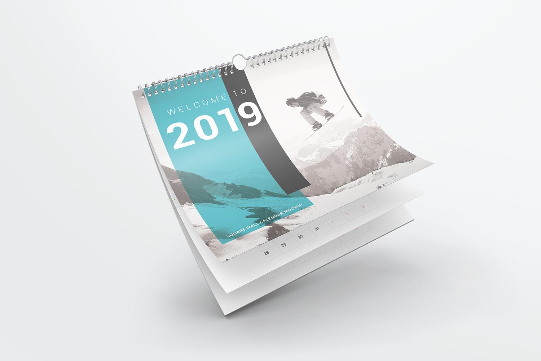 Square Wall Calendar Mockups example image 3