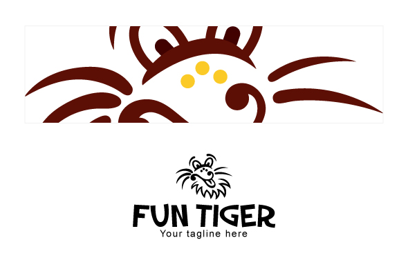 Fun Tiger - Comic Animal Graphic Stock Logo Design Template example image 3