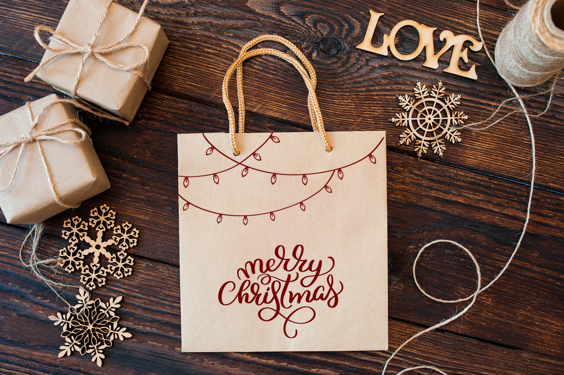 Merry Christmas Quotes and Objects Calligraphy Collection example image 8