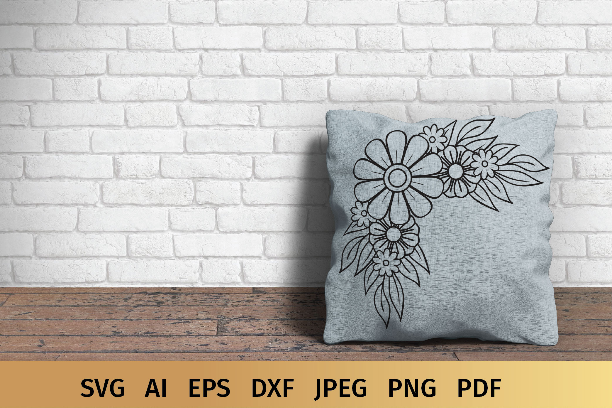 Floral Border and Corner Svg example image 2
