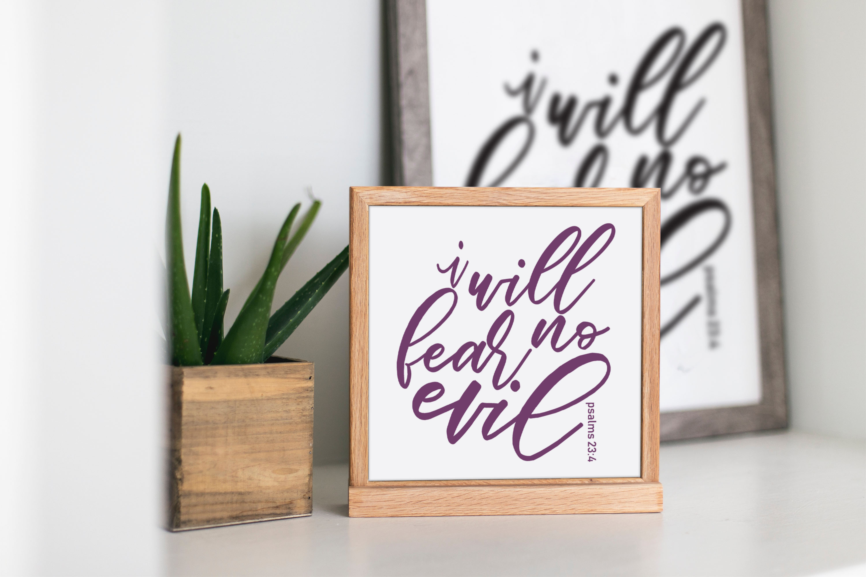 I will fear no Evil. SVG PNG JPEG dxf digital cut file example image 2