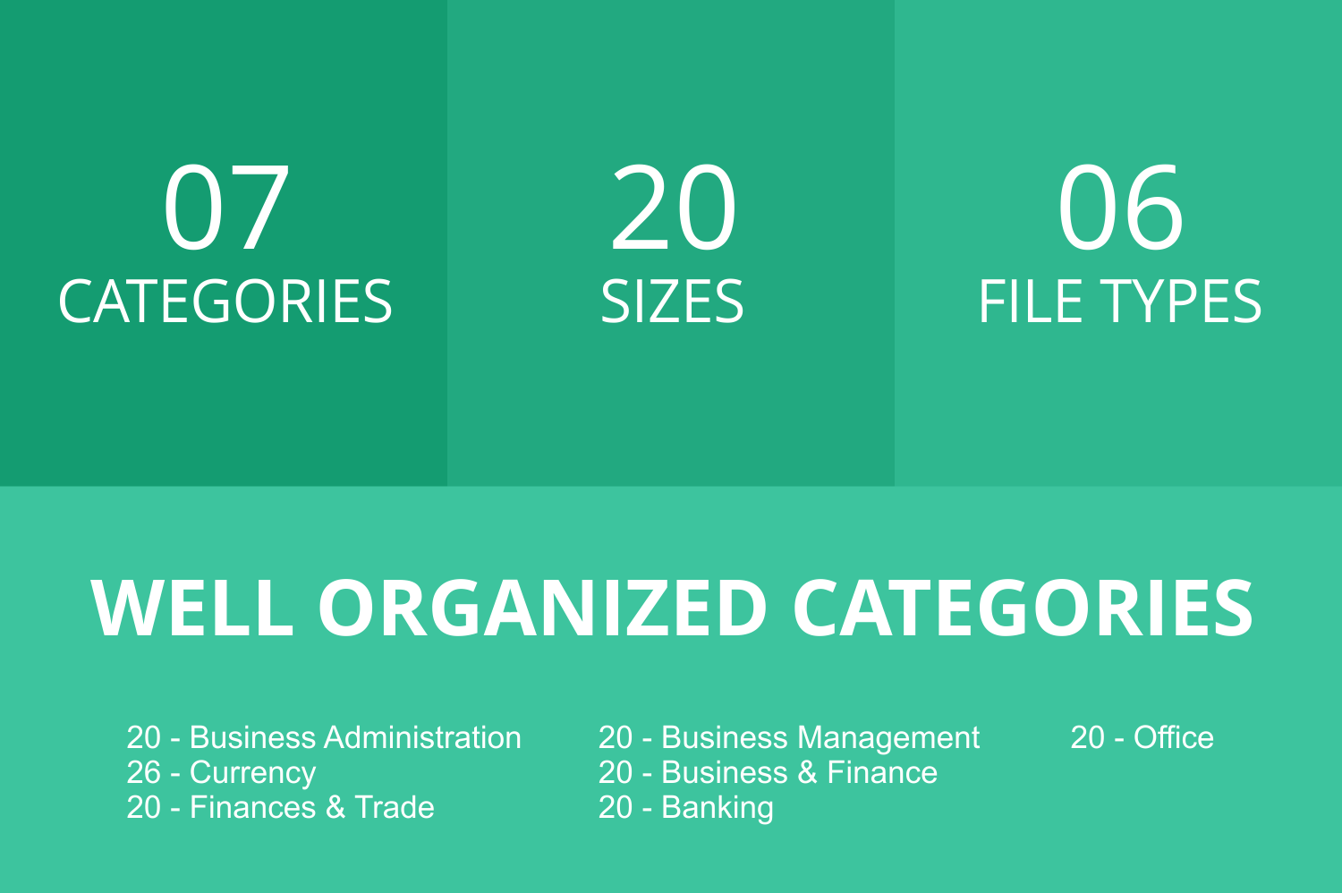 146 Business & FInance Flat Icons example image 3