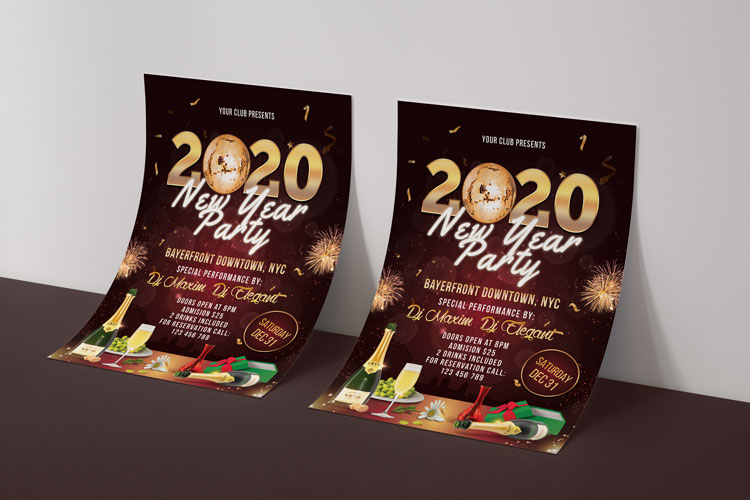 NEW YEAR PARTY FLYER 2 example image 4