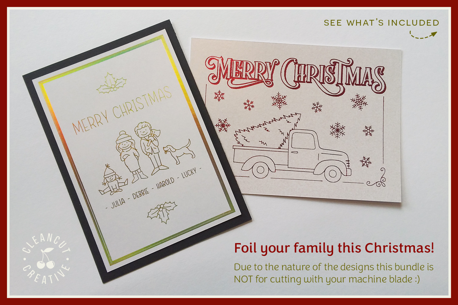 Foil Quill Edition - Cute Christmas Clan - family figures example image 2