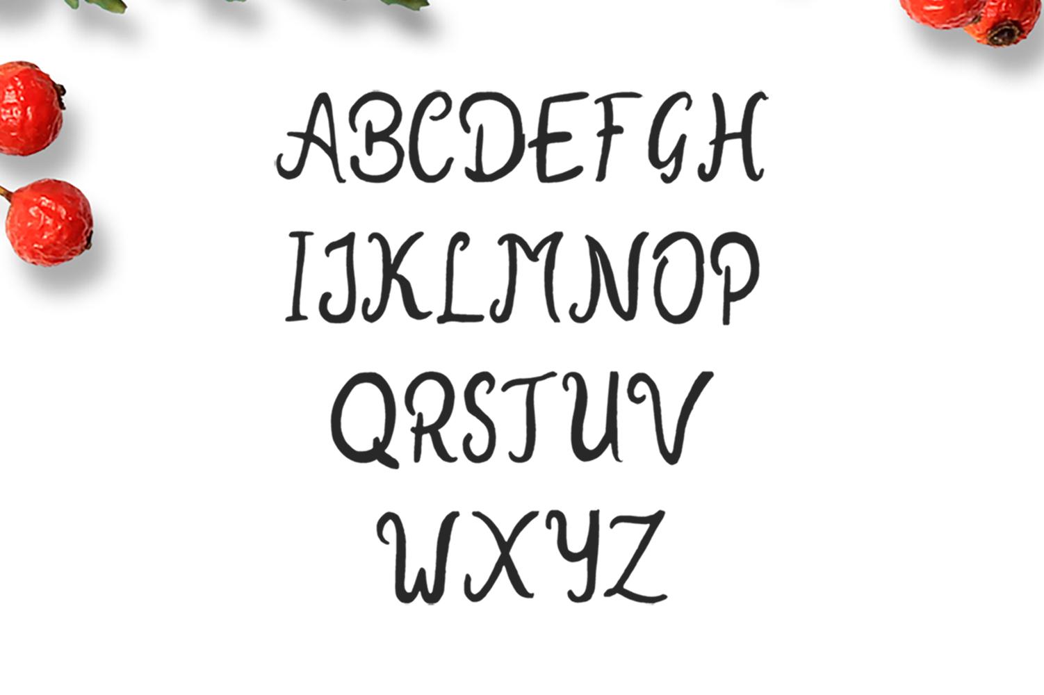 New Year 2018 Brush Font example image 4