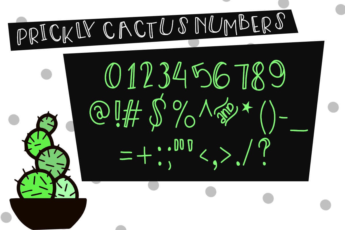 Prickly Cactus Font Duo Free Doodle Pack example image 2