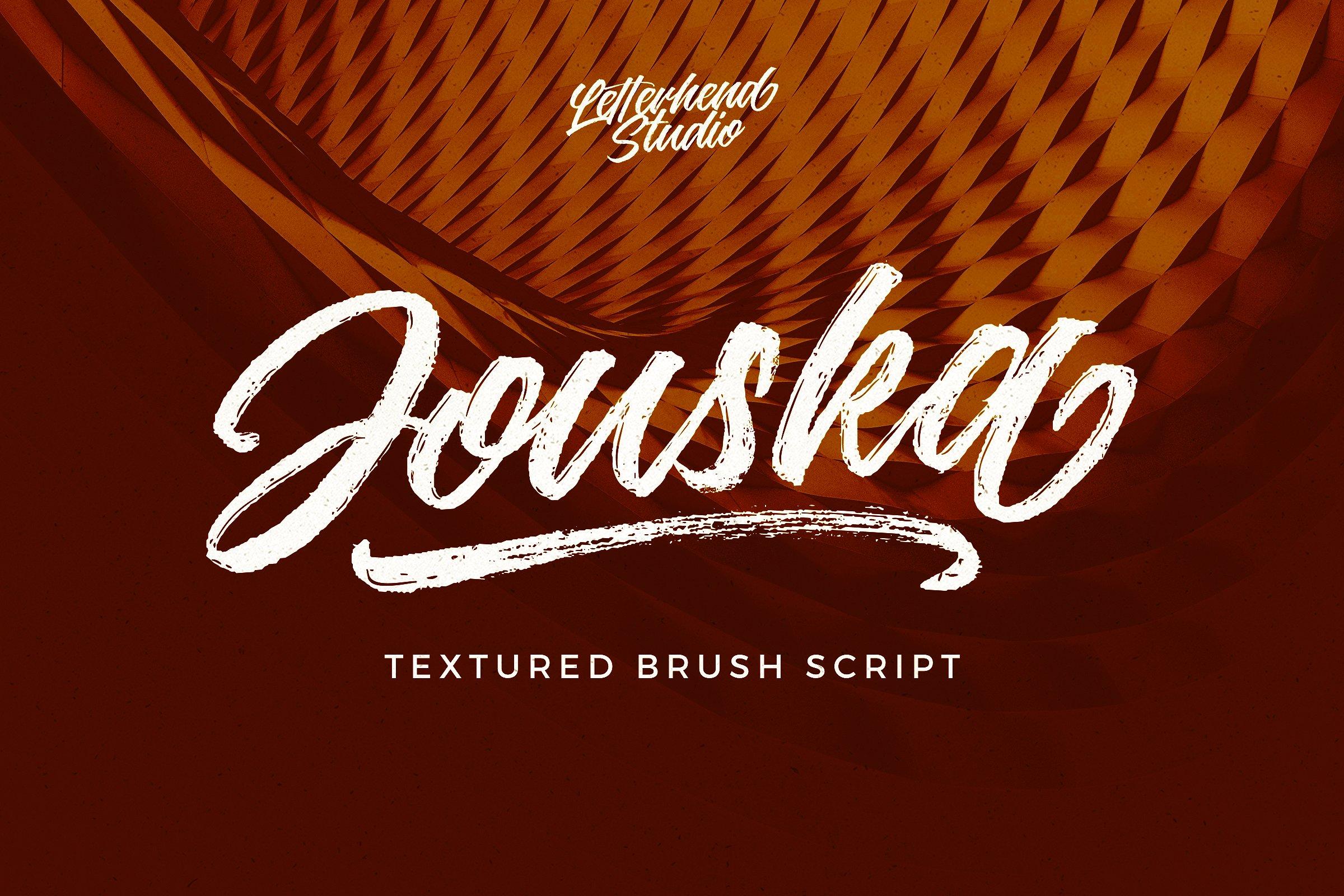Jouska Textured Brush Script example image 1