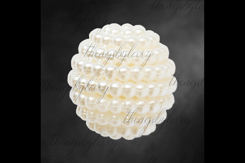 100 Pearl Pomander Digital Clip Art Jewelry Pearl Ball Image example image 2