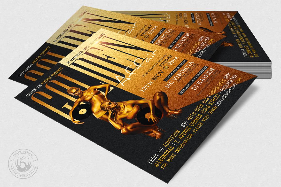 Golden Affair Flyer Template example image 4