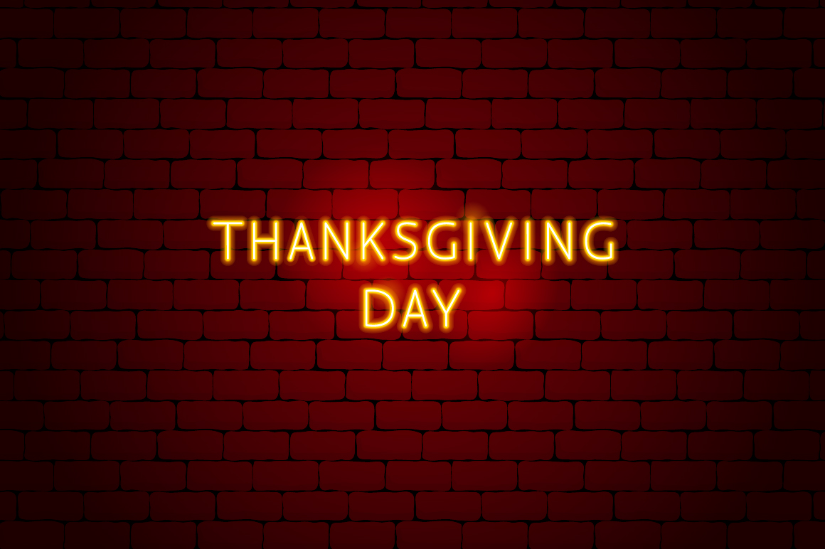 Thanksgiving Day Neon example image 8