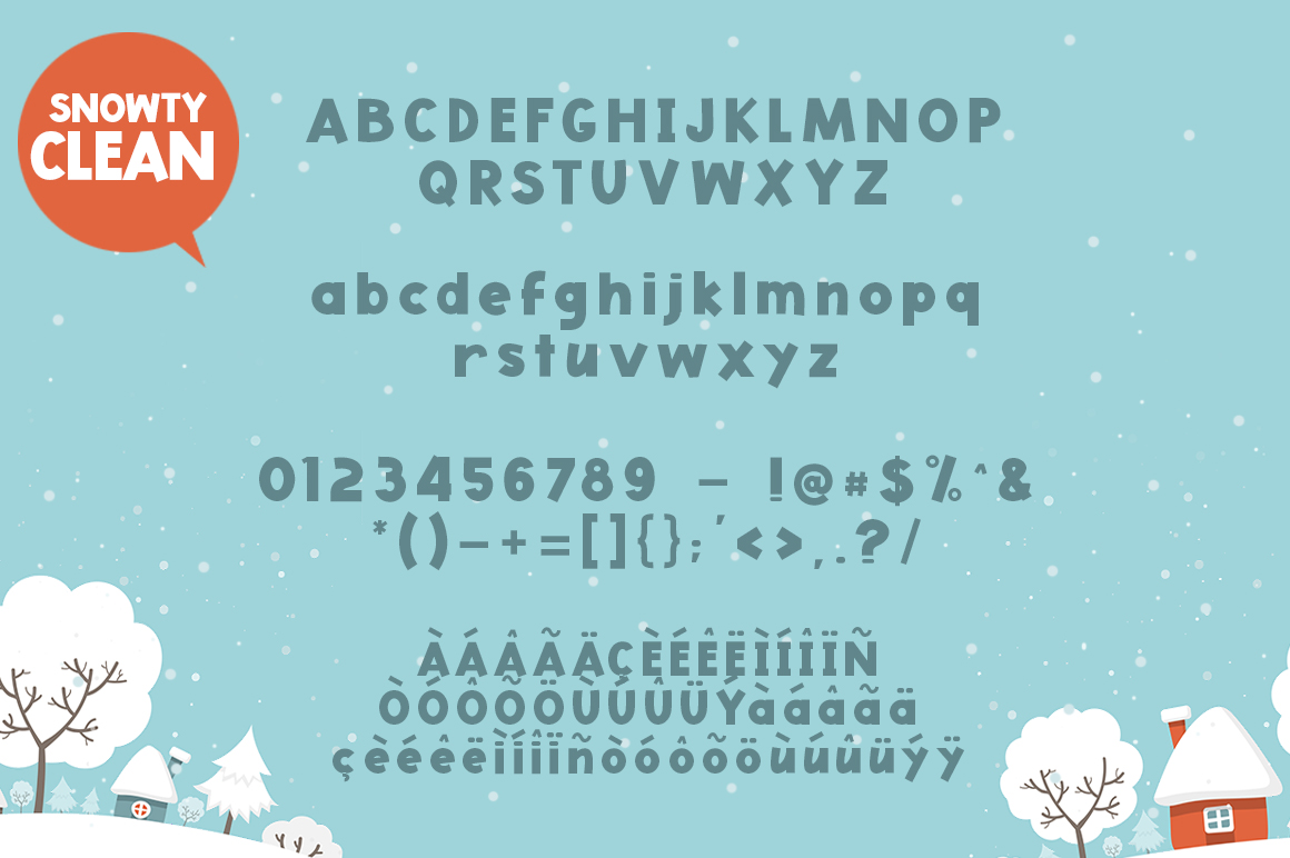 Snowty 3 Font example image 4
