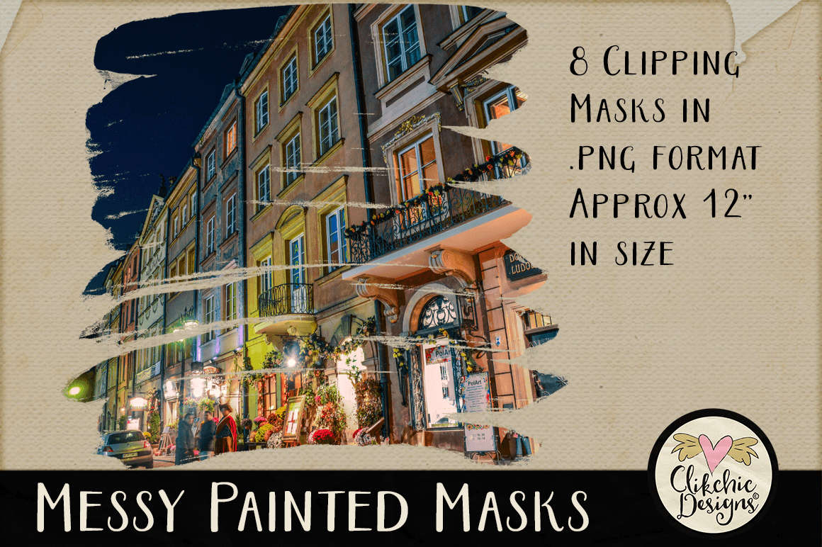 Clipping Masks - Messy Painted Photo Masks & Tutorial example image 4